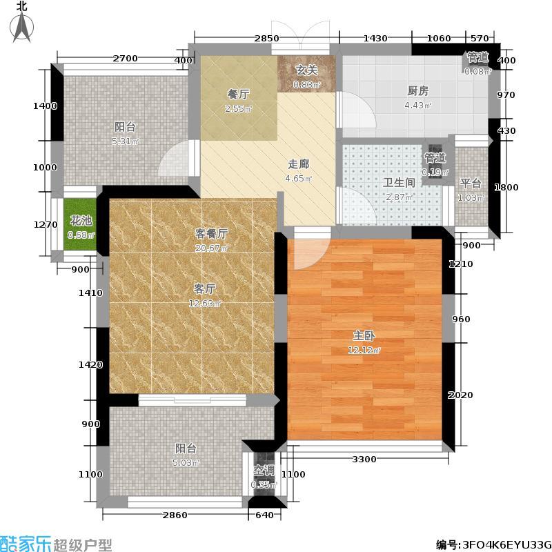 融晟公园大地66.00㎡融晟公园大地66.00㎡1室2厅1卫户型1室2厅1卫