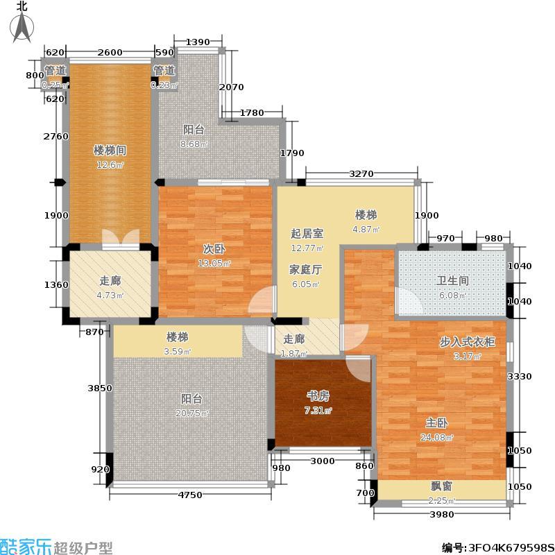 D区20-23栋 5-6层 5层复式01单位2层平面图