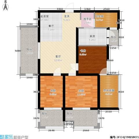 学院山3室0厅1卫1厨105.00㎡户型图