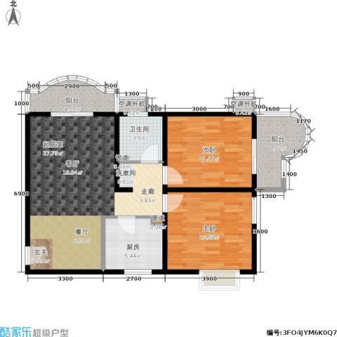 鼎翰名苑2室0厅1卫1厨94.00㎡户型图