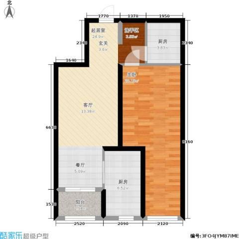 学院山1室0厅0卫2厨66.00㎡户型图