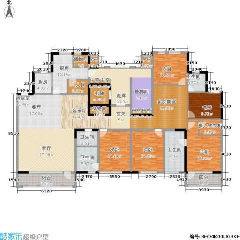 万城华府5室0厅4卫2厨340.00㎡户型图