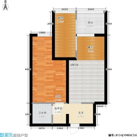 学院山1室0厅1卫1厨59.00㎡户型图