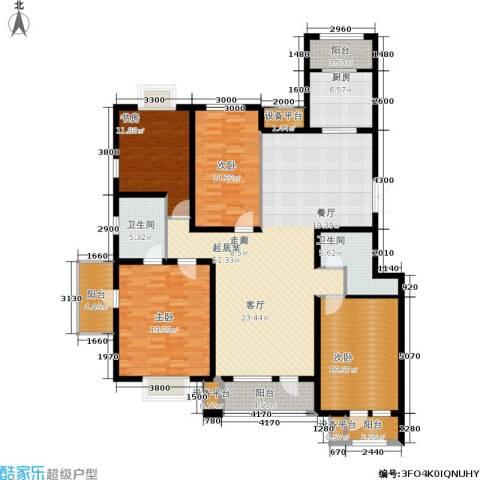 百旺茉莉园4室0厅2卫1厨211.00㎡户型图