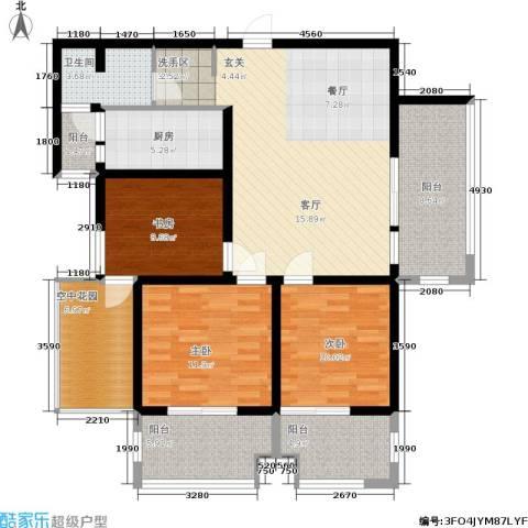 学院山3室0厅1卫1厨110.00㎡户型图