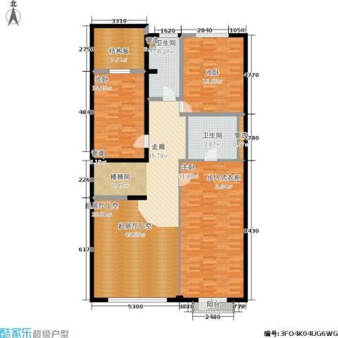 万城华府3室0厅2卫0厨190.00㎡户型图