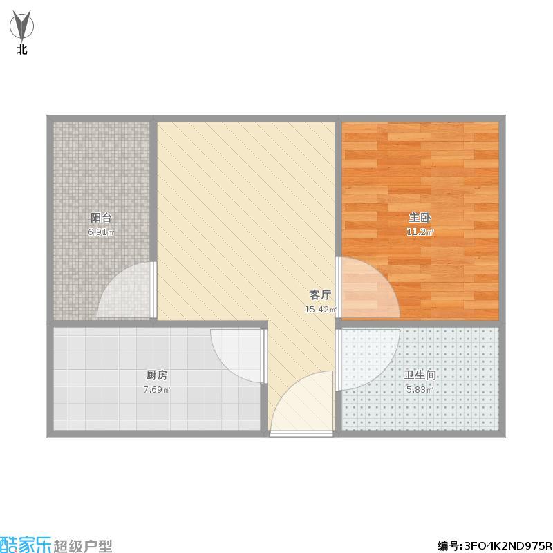 万科城丁香公寓的户型图