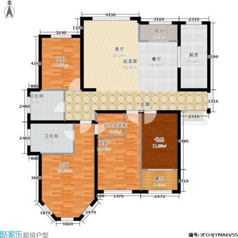 香江湾4室0厅2卫1厨168.00㎡户型图