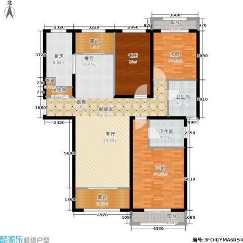 香江湾3室0厅2卫1厨158.00㎡户型图