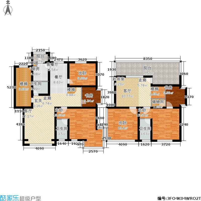 蓝调沙龙雅园198.77㎡B跃3面积19877m户型