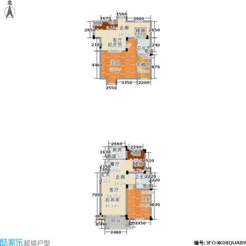 绿城桂花城2室0厅2卫1厨159.00㎡户型图