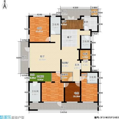 五矿万科・如园4室1厅4卫1厨290.00㎡户型图