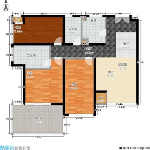 K2清水湾3室0厅2卫1厨113.00㎡户型图