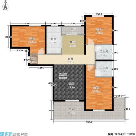 观澜天下3室0厅2卫1厨134.00㎡户型图
