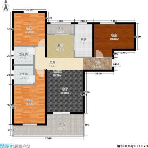 观澜天下3室0厅2卫1厨129.00㎡户型图