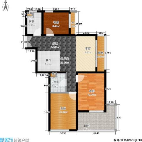 K2清水湾3室0厅1卫1厨89.00㎡户型图