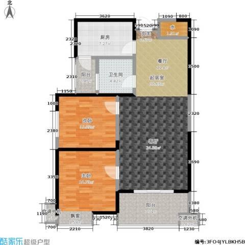 西港碧水湾2室0厅1卫1厨94.00㎡户型图