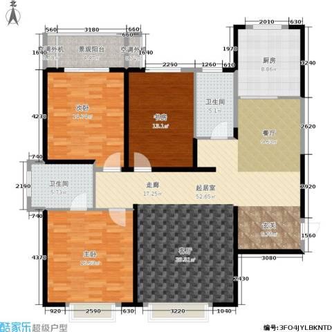 西港碧水湾3室0厅2卫1厨134.00㎡户型图