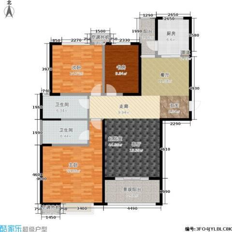 西港碧水湾3室0厅2卫1厨132.00㎡户型图