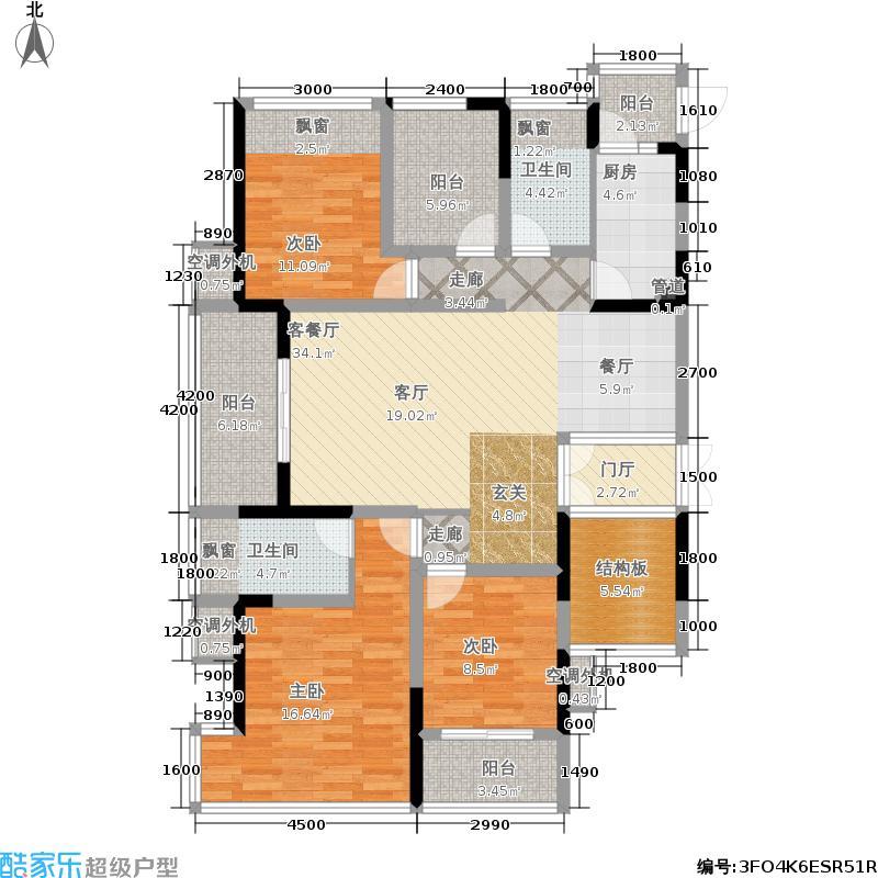 融晟公园大地129.00㎡融晟公园大地129.00㎡3室2厅2卫户型3室2厅2卫