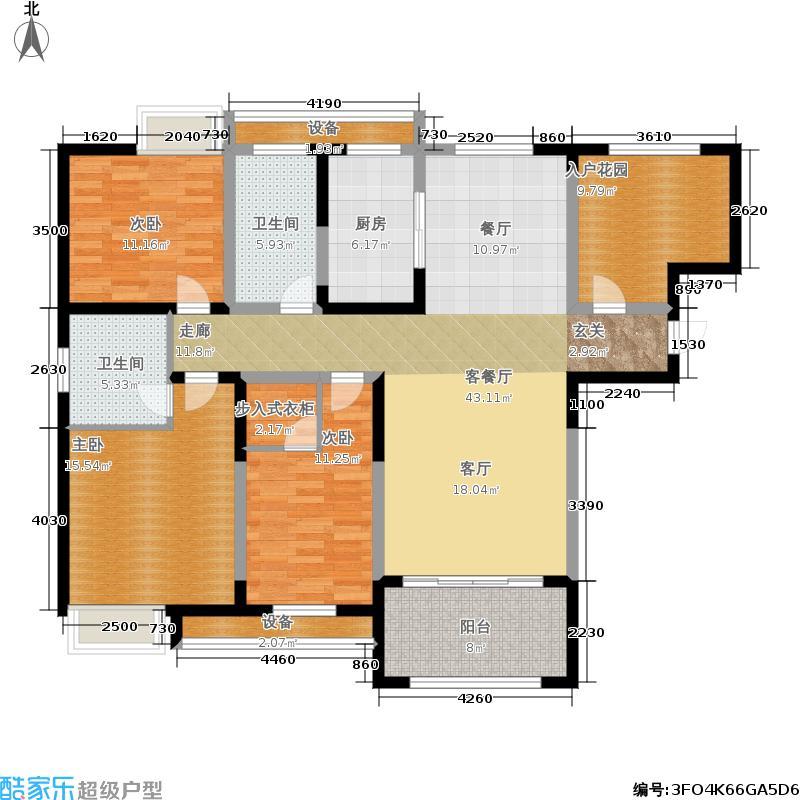 百乐广场142.89㎡G5户型3室2厅2卫