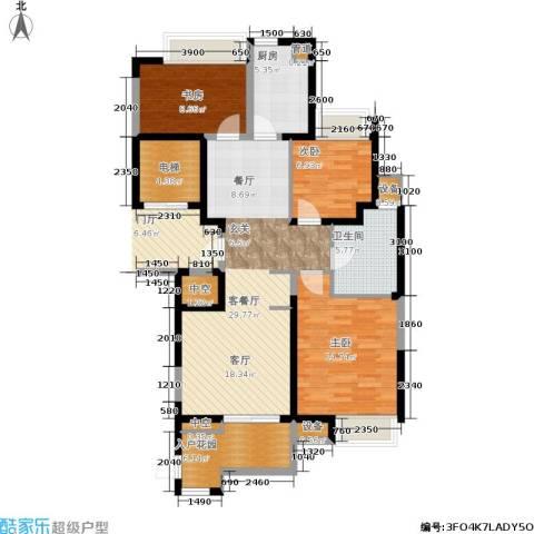 百乐广场3室1厅1卫1厨100.00㎡户型图