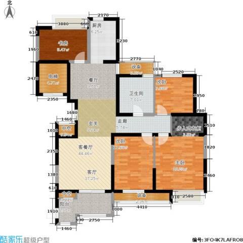 百乐广场4室1厅1卫0厨134.00㎡户型图