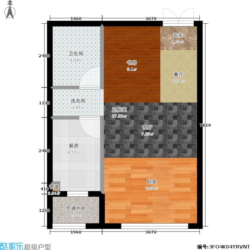 世嘉博客40.52㎡1号楼7层A面积4052m户型