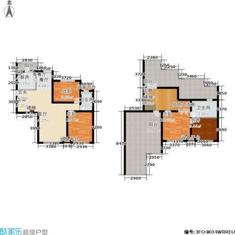 蓝调沙龙雅园4室1厅2卫1厨174.13㎡户型图