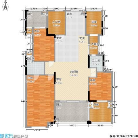 劲嘉金棕榈湾3室0厅2卫0厨171.00㎡户型图