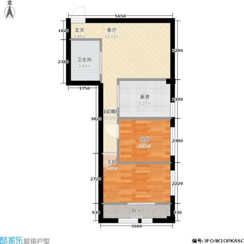 凤城阳光2室0厅1卫1厨48.25㎡户型图