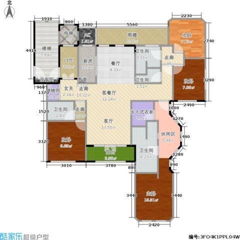 紫竹半岛4室1厅4卫1厨141.00㎡户型图