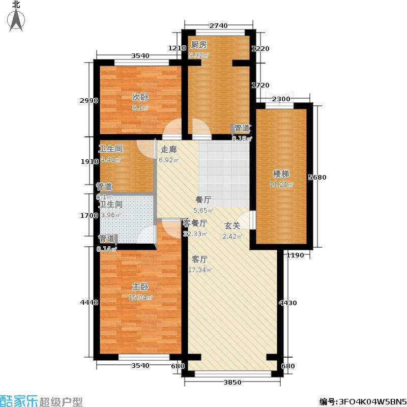 蓝调沙龙雅园98.37㎡D底1面积9837m户型