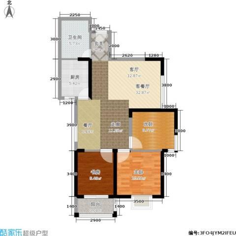 仕府公馆3室1厅1卫1厨105.00㎡户型图