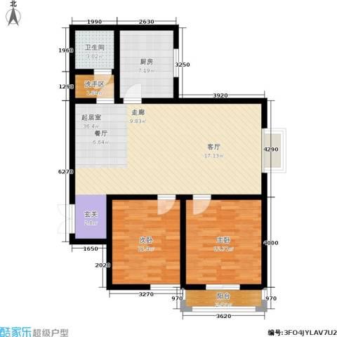 郦景澜庭2室0厅1卫1厨87.00㎡户型图