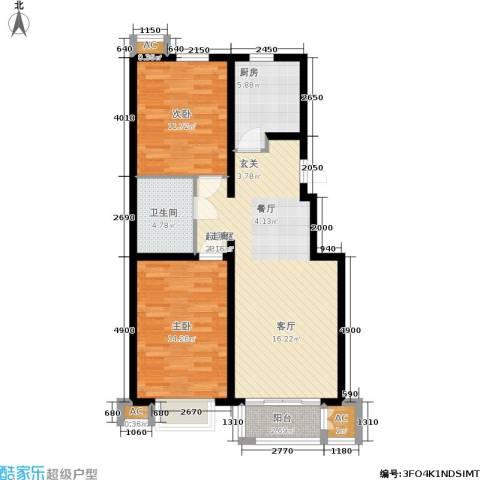 青年城2室0厅1卫1厨100.00㎡户型图