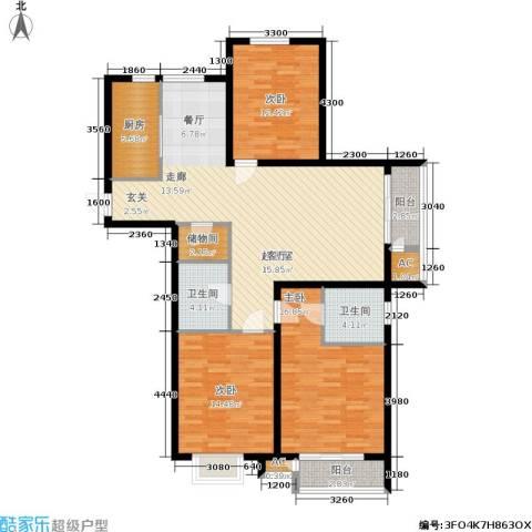 青年城3室0厅2卫1厨151.00㎡户型图