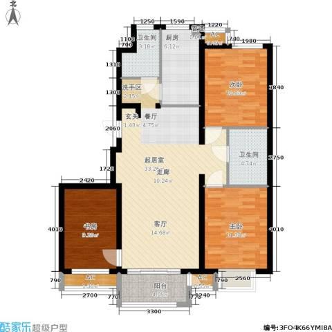 青年城3室0厅2卫1厨123.00㎡户型图