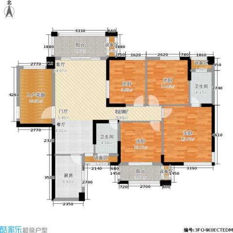 紫鑫御湖湾4室1厅2卫1厨127.00㎡户型图