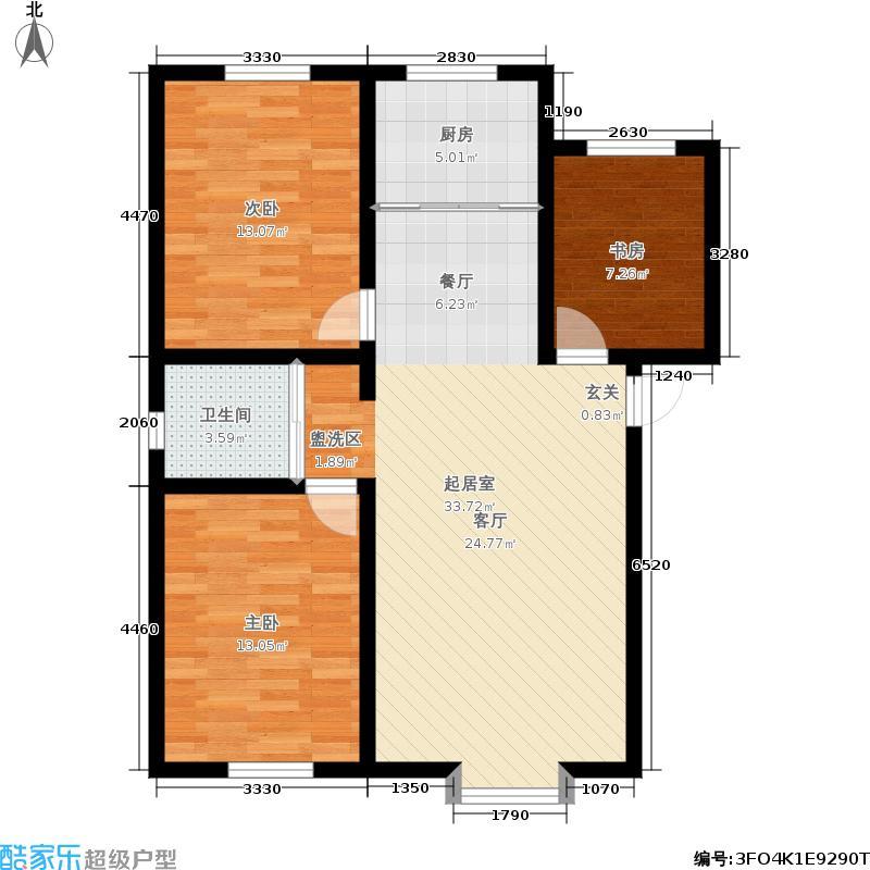 景瑞黄金海岸95.00㎡景瑞・黄金海岸E953211户型