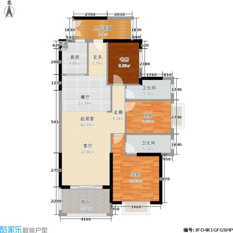尚海阳光129.75㎡洋房3栋4-29层03+04户型