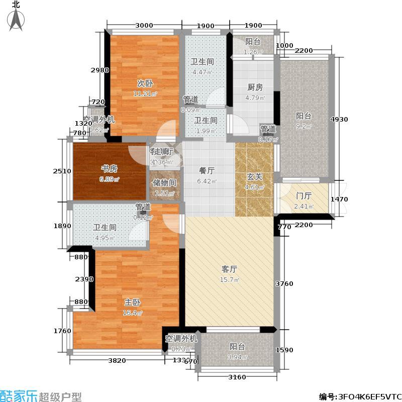 融晟公园大地84.00㎡融晟公园大地84.00㎡3室2厅2卫户型3室2厅2卫