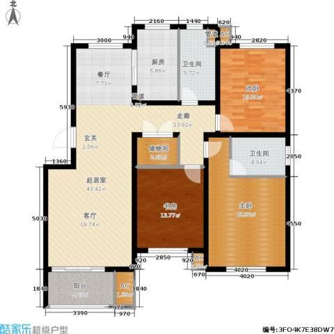 海正香醍湾3室0厅2卫1厨132.00㎡户型图