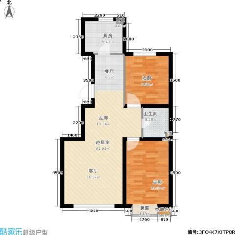 东城天下2室0厅1卫1厨89.00㎡户型图
