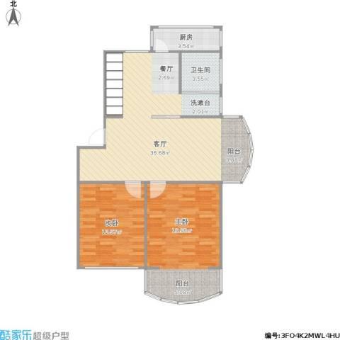碧虹苑2室1厅1卫1厨103.00㎡户型图