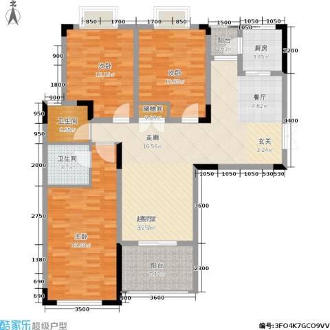 华谊城3室0厅2卫1厨144.00㎡户型图