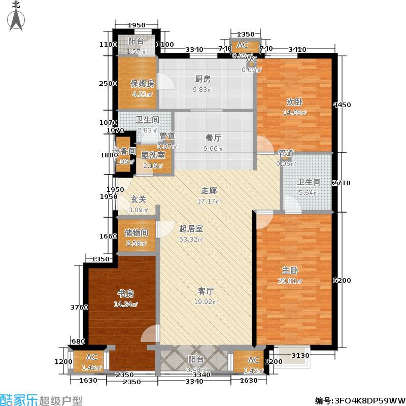 C3户型三室二厅两卫