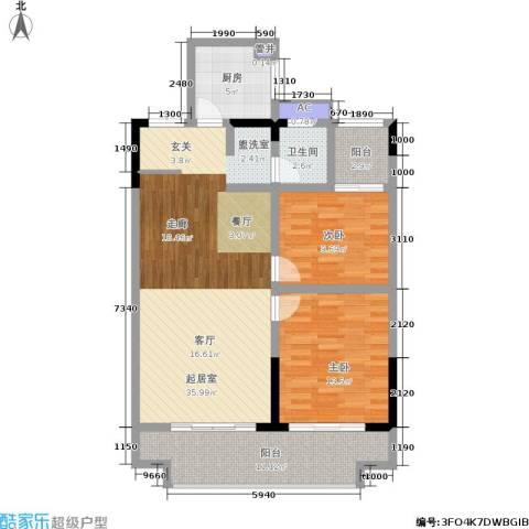 滨江豪庭2室0厅1卫1厨94.00㎡户型图