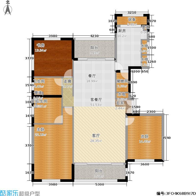 太湖锦园162.00㎡宽景公寓C3户型3室2厅2卫