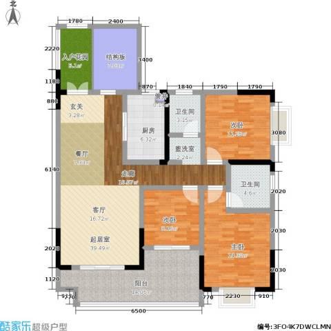 滨江豪庭3室0厅2卫1厨131.00㎡户型图